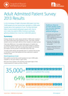 Snapshot Report: Adult Admitted Patient Survey 2013 Results