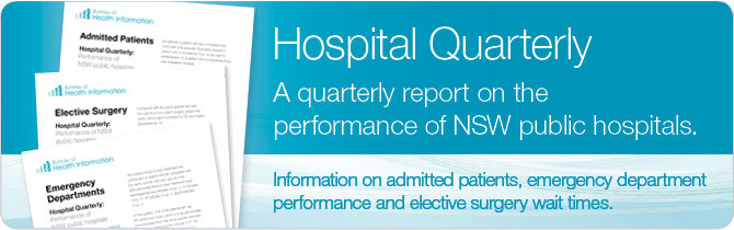 Hospital Quarterly: Performance of NSW Public Hospitals