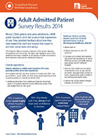 Snapshot Report: Adult Admitted Patient Survey Results 2014