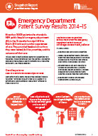 Snapshot Report: Emergency Department Patient Survey Results 2014–15
